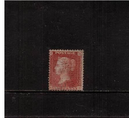 view larger image for SG 37 (1856) - 1d Red-Brown - Large Crown - Perf 14 <br/>lettered ''H-H''