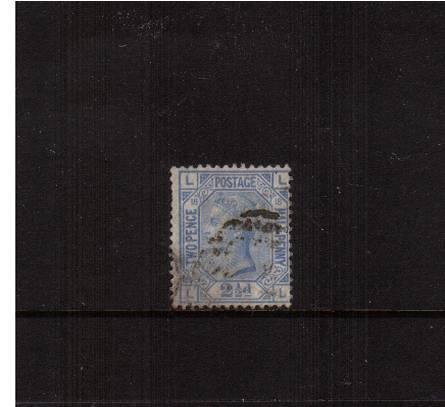 view larger image for SG 142 (1880) - 2�d Blue - Watermark Orb - from Plate 18 lettered 'L-L'<br/>