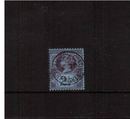 view larger image for SG 201 (1887) - 2½d Purple on Blue<br/>