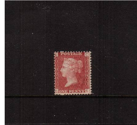 view larger image for SG 43 (1858) - 1d Rose-Red from Plate 172 lettered ''C-E''<br/>