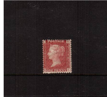 view larger image for SG 43 (1858) - 1d Rose-Red from Plate 172 lettered ''B-E''<br/>