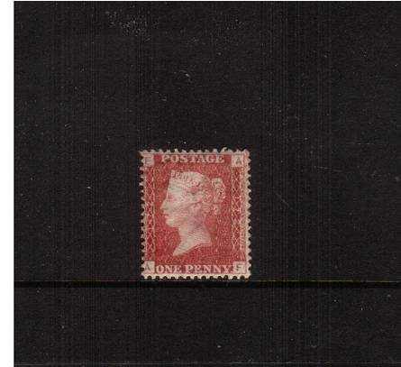 view larger image for SG 43 (1858) - 1d Rose-Red from Plate 172 lettered ''A-F''<br/>