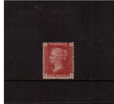 view larger image for SG 43 (1858) - 1d Rose-Red from Plate 161 lettered ''H-J''<br/>