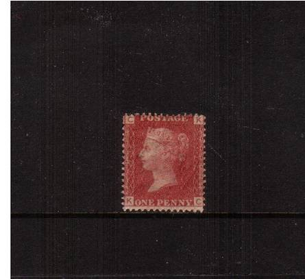 view larger image for SG 43 (1858) - 1d Rose-Red from Plate 173 lettered ''K-C''<br/>