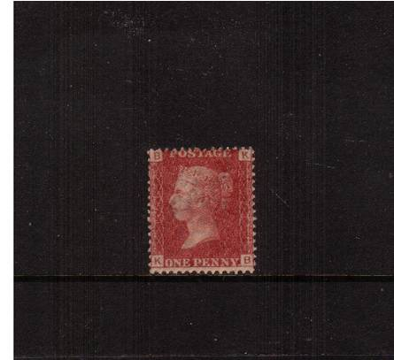 view larger image for SG 43 (1858) - 1d Rose-Red from Plate 173 lettered ''K-B''<br/>