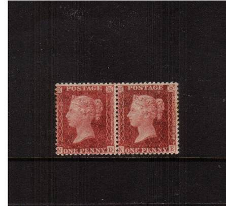 view larger image for SG 41 (1857) - 1d Deep Rose-Red - Die II - Alph 3 - Large Crown - Perf 14<br/>