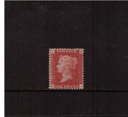 view larger image for SG 43 (1858) - 1d Rose-Red from Plate 125 lettered''H-J''<br/>