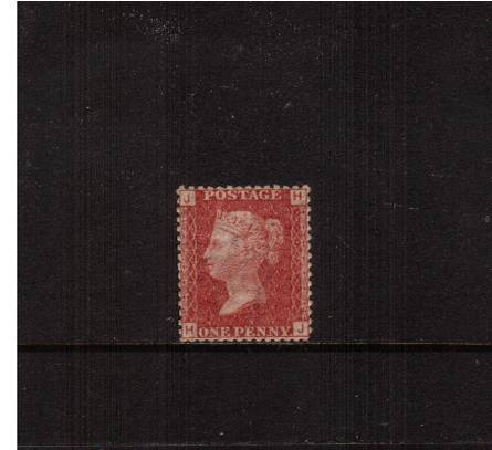 view larger image for SG 43 (1858) - 1d Rose-Red from Plate 174 lettered''H-J''<br/>