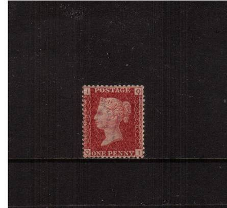view larger image for SG 43 (1858) - 1d Rose-Red from Plate 176 lettered''Q-I''<br/>