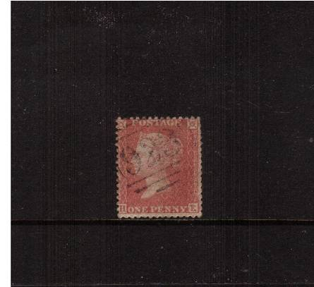 view larger image for SG 40 (1857) - 1d Rose-Red - Die II - Alph 3 - Large Crown - Perf 14<br/>