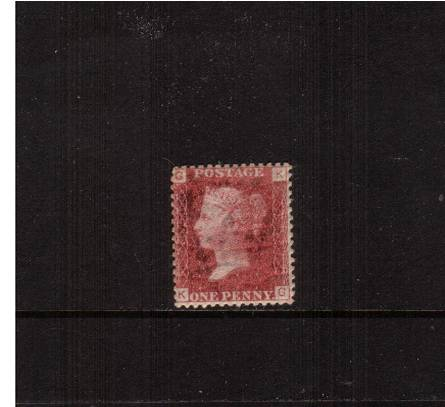 view larger image for SG 43 (1858) - 1d Rose-Red from Plate 149 lettered ''K-G''<br/>