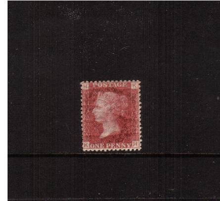 view larger image for SG 43 (1858) - 1d Rose-Red from Plate 149 lettered ''K-H''<br/>