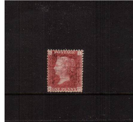 view larger image for SG 43 (1858) - 1d Rose-Red from Plate 149 lettered ''L-E''<br/>
