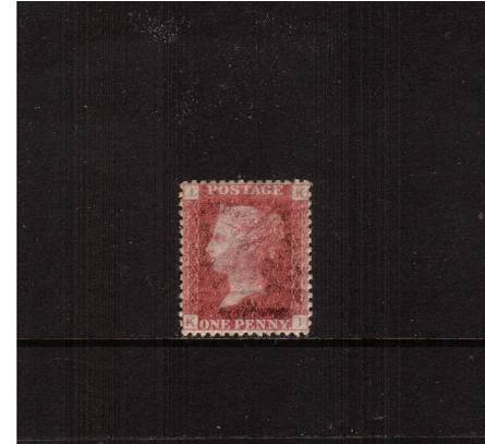 view larger image for SG 43 (1858) - 1d Rose-Red from Plate 149 lettered ''K-I''<br/>