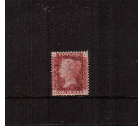 view larger image for SG 43 (1858) - 1d Rose-Red from Plate 149 lettered ''L-I''<br/>