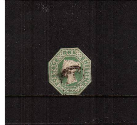 view larger image for SG 55 (1847) - EMBOSSED - 1/- Green<br/>