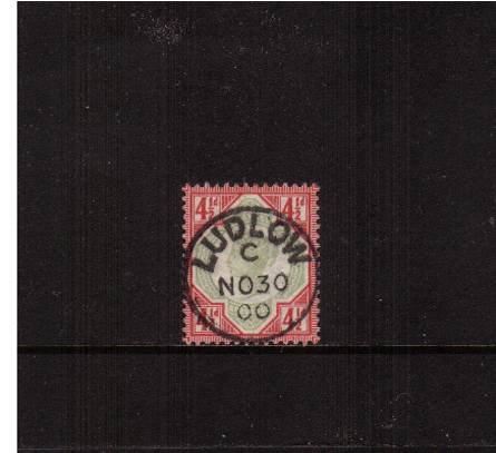 view larger image for SG 206 (1892) - 4�d Green and Carmine