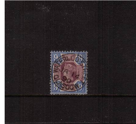 view larger image for SG 209 (1887) - 9d Dull Purple and Blue
