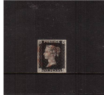 view larger image for SG 2 (1840) - 1d Black from Plate 5 lettered ''C-C''<br/>