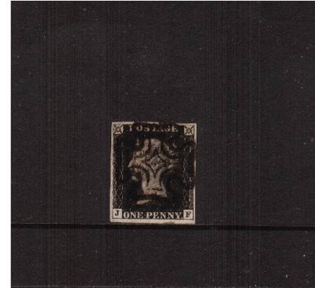 view larger image for SG 2 (1840) - 1d Black from Plate 5 lettered ''J-F''<br/>