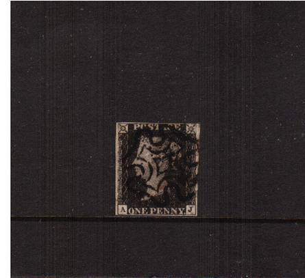 view larger image for SG 2 (1840) - 1d Black from Plate 5 lettered ''A-J''<br/>