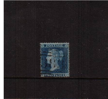 view larger image for SG 36a (1858) - 2d Blue from Plate 6 Large Crown - Perf 16<br/>