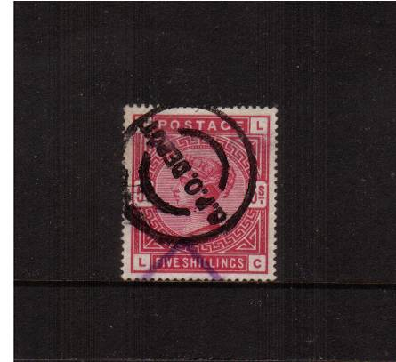 view larger image for SG 181 (1983) - 5/- Crimson lettered ''L-C''<br/>