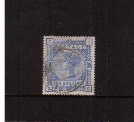 view larger image for SG 183a (1983) - 10/- Pale Utlramarine lettered ''J-C''<br/>