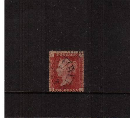 view larger image for SG 43 (1858) - 1d Lake-Red from Plate 106 lettered ''E-L''<br/>