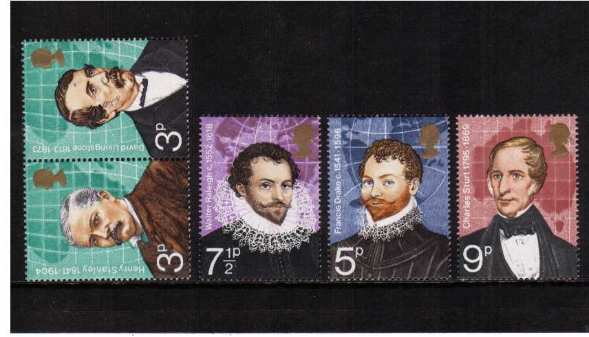 view larger image for SG 923-927 (1973) - British Explorers set of five
