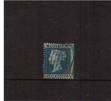 view larger image for SG 34 (1855) - 2d Blue from Plate 5 - Large Crown - Perf 14<br/>