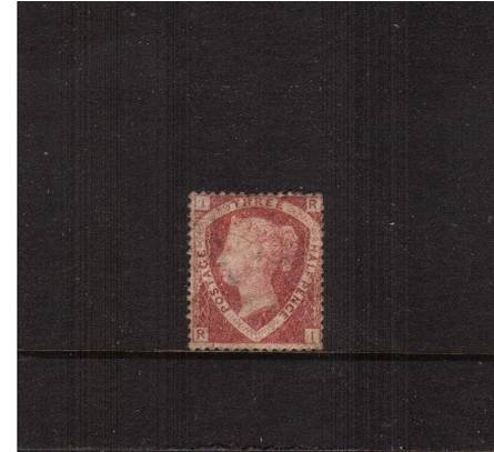 view larger image for SG 51 (1870) - 1�d Rose-Red - Plate 1 lettered ''R-I''<br/>