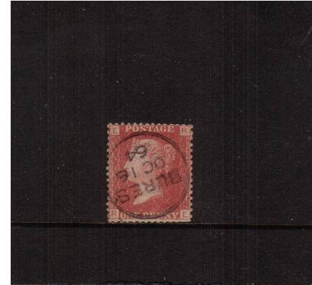 view larger image for SG 43 (1858) - 1d Rose-Red from Plate  92