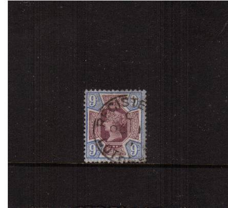 view larger image for SG 209 (1887) - 9d Pull Purple and Blue<br/>