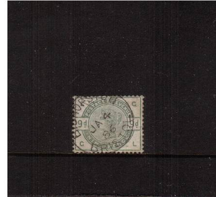 view larger image for SG 195 (1883) - 9d Green lettered ''G-L''<br/>