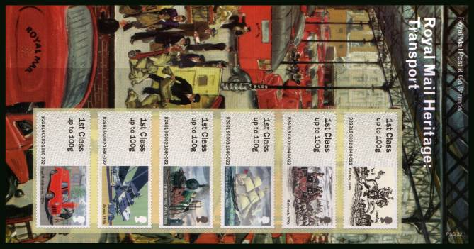 Stamp Image: view larger back view image for Royal Mail Heritage: Transport