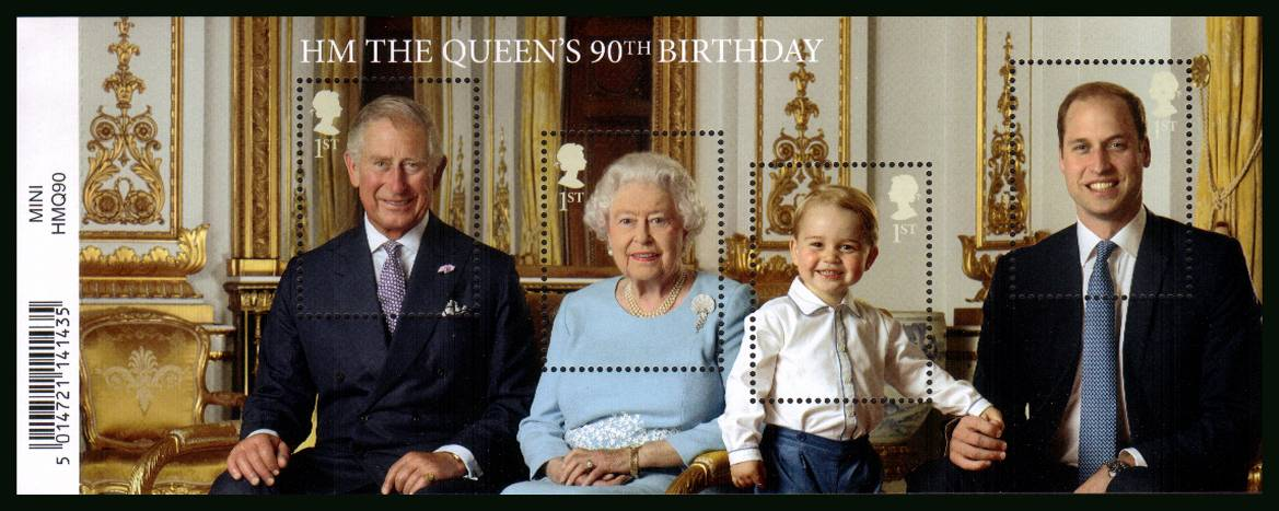 view larger image for SG MS3832 (21 April 2016) - MH The Queen's 90th Birthday 