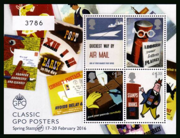 view larger image for SG MS3801v (2016) - Royal Mail 500 - Classic GPO Posters <br/>