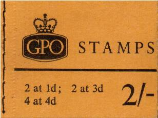 British Stamps QE II Stitched Pre Decimal Booklets Item: view larger image for SG N22 (1965) - 2/- Booklet<br/>