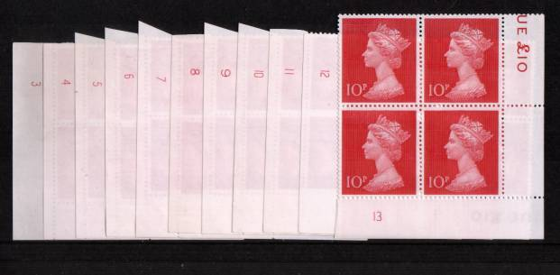 view larger image for SG 829 (1970) - 10p Recess-Printed Cerise<br/>