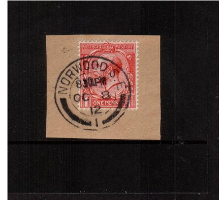 view larger image for SG 357 (1912) - 1d Bright Scarlet<br/>