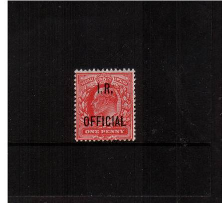 view larger image for SG O21 (1902) - <b>I.R. OFFICIAL</b><br/>