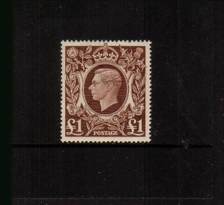 view larger image for SG 478cvar (1939) - �1 Brown<br/>