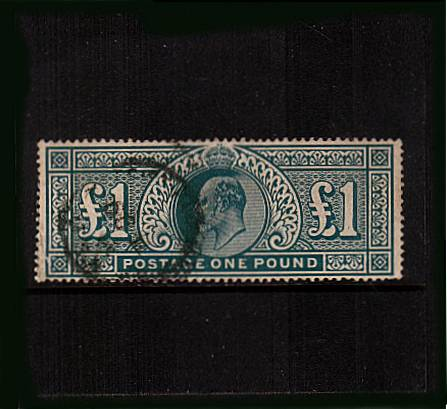 view larger image for SG 320 (1911) - �1 Deep Green - Somerset House<br/>