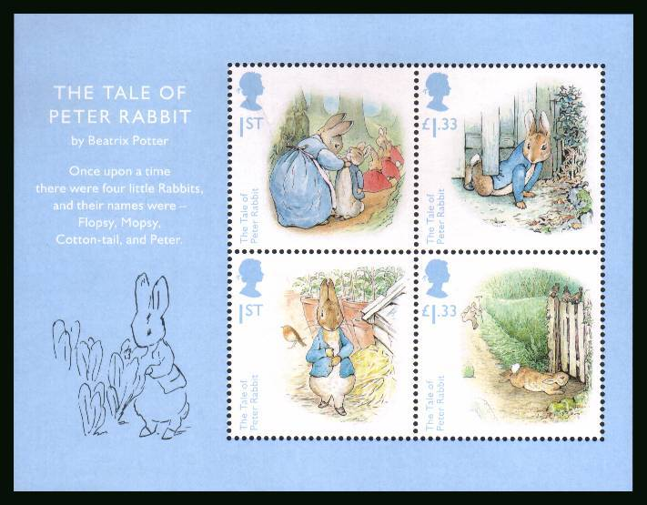 view larger image for SG MS3868 (28 July 2016) - Beatrix Potter<br/>