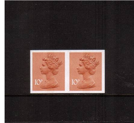 view larger image for SG X888a (1980) - 10p Orange-Brown - Center Band<br/>