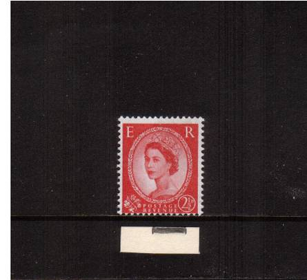 view larger image for SG 614var (1960) - 2�d Carmine-Red - Watermark Multiple Crowns - 2 Bands<br/>