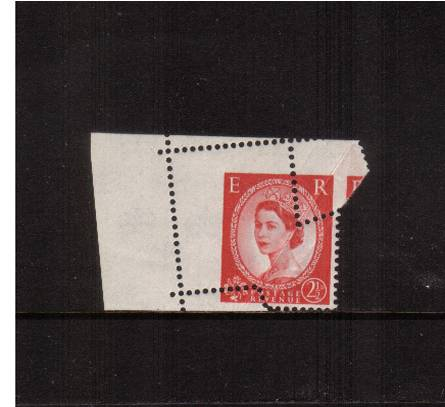 view larger image for SG 574var (1959) - 2�d Carmine-Red - Type I - Watermark Multiple Crowns<br/>