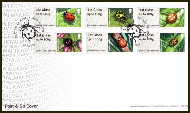 view larger back view image for ROYAL MAIL ''POST & GO'' - LADYBIRDS set set of six