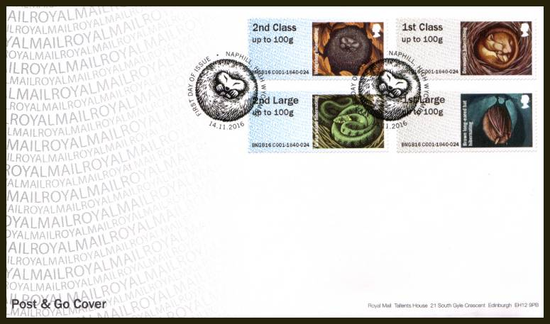 view larger back view image for ROYAL MAIL ''POST & GO'' - HIBERNATING ANIMALS set of four
